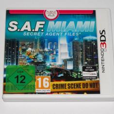 Joc consola Nintendo 3DS - S.A.F. Miami Secret Agent Files - Jocuri Nintendo 3DS, Actiune, Toate varstele, Single player