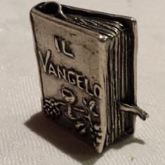 EVANGHELIE argint in miniatura Piesa de colectie VECHE executata manual RARA, Ornamentale