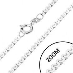 Lănțișor realizat din argint 925 - model lucios în formă de S, 1 mm - Lantisor argint