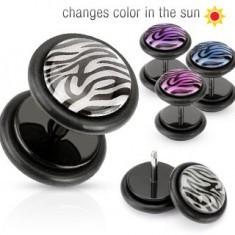 Piercing ureche fals - cerc cu model tigru