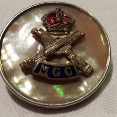RARA Decoratie argint sterling Sidef Coroana Regala Insemn militar de Colectie