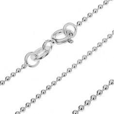 Lănțișor argint - bile mici, lucioase unite, 1, 2 mm