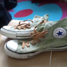 TENISI CONVERSE chuck taylor all star nr 38 unisex culoare verde - Tenisi dama Converse, Marime: 38 2/3, Textil