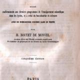 Cours de chimie (in franceză) - de la 1862 !