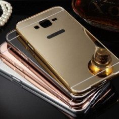 Husa Jelly Case Mirror Samsung Galaxy Grand Prime G530F ROSE GOLD, Plastic