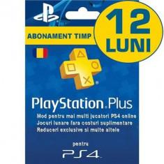 Playstation Plus Subscription Card Abonament 12 Luni Ro - Jocuri PS3 Sony