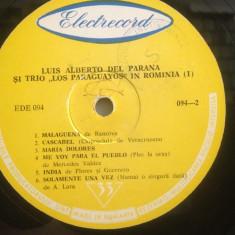 LUIS ALBERTO & LOS PARAGUAYOS in ROMANIA I (EDE 03437/ELECTRECORD) - VINIL/BUN