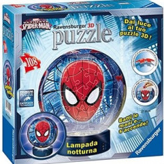 Puzzle Ravensburger 3D Luminos Spiderman, 108 Piese