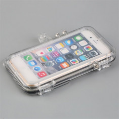Carcasa waterproof subacvatica pt Iphone 6 6s cu adaptor Gopro - Husa Telefon, Transparent
