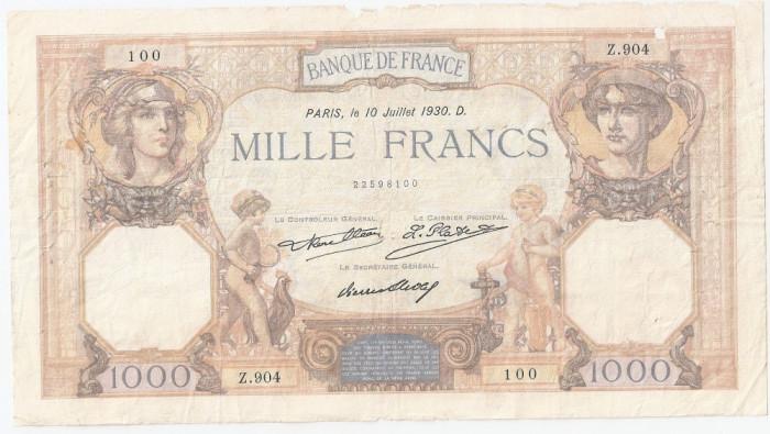 FRANTA 1000 FRANCS FRANCI CERES ET MERCURE 10-07-1930 U