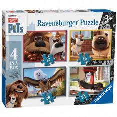 Puzzle Ravensburger Viata Secreta A Animalelor, 4X100 Piese