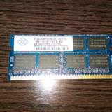 Placuta memorie laptop DDR3 Nanya 2 gb  PC3-8500S 1066 Mhz
