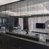 Perdelute franjuri cu dimensiunea de 3 x 3 metri - diferite culori