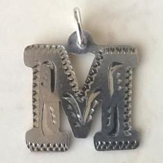 Pandantiv argint 925 - litera M