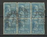 AMERICA--TIMBRE BLOC DE 6--USA 1938, Stampilat