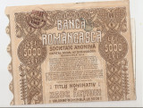 BANCA ROMANEASCA SOCIETATE ANONIMA TITLU NOMINATIV DE 10 ACTIUNI 5000 LEI 1941, Romania 1900 - 1950