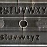şablon litere 7 mm IPL Timişoara, pentru tras in tuş