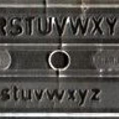 Sablon litere 7 mm IPL Timişoara, pentru tras in tuş
