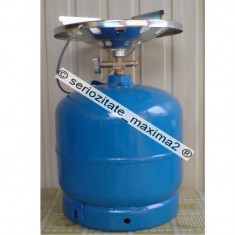 Butelie voiaj cu arzator 10 litri + REDUCTIE statie GPL - Aragaz/Arzator camping