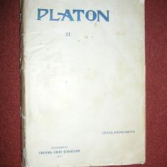 Platon - Banchetul, Phaidon - Cezar Papacostea - 1931 - Carte veche