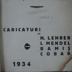 Societati de electricitate, Caricaturi de H. Lehrer, I. Mendel, Ramis, Cobar 1934 - Carte veche