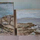 2 peisaje marine semnate si certificate de autor , enrico da campo, Ulei, Altul