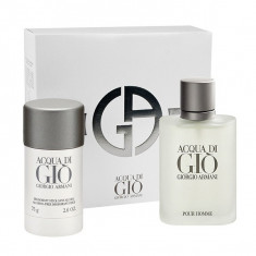 SET ACQUA DI GIO MEN 100 ML EDT + 75 ML DEO STICK - Set parfum Armani