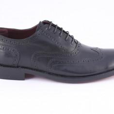 Candrani Oxford Peru Negru. Talpa Bovina - Pantofi barbat Candrani, Piele naturala