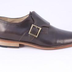 Candrani London 1 Negru - Pantofi barbat Candrani, Piele naturala