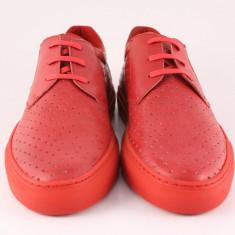 Candrani Comfort Sneakers Gordon Rosu - Pantofi barbati Candrani, Piele naturala