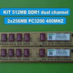 Memorie RAM PC DDR1 512MB (2x256MB) PC3200 400MHz KINGMAX, Dual channel