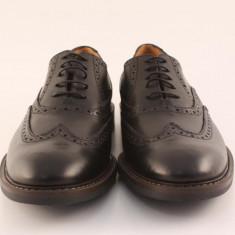 Candrani Liverpool Negru - Pantofi barbati Candrani, Piele naturala, Eleganti