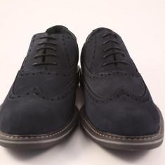 Candrani Liverpool Gri Petrol - Pantofi barbat Candrani, Piele naturala, Eleganti