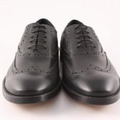 Candrani Oxford Peru cu Flotter Negru - Pantof barbat Candrani, Piele naturala