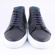 Candrani Sneakers Snug Gordon Blue - Pantofi barbati Candrani, Piele naturala