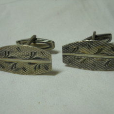 Butoni camasa argint 800 Vechi executati manual Finuti de Efect Vintage