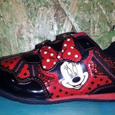 Minie Mouse -adidas original pentru fetite cochete, marimi 24, 28, 29, 30.5 - Adidasi copii, Culoare: Negru, Fete