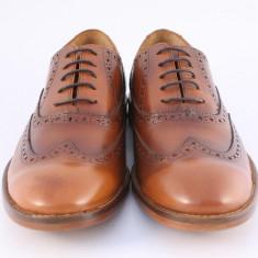 Candrani Oxford Peru Coniac Periat. Talpa TDM - Pantofi barbati Candrani, Piele naturala