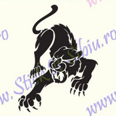 Black Panther_Tuning Auto_Cod: CST-524_Dim: 25 cm. x 18.5 cm. - Stickere tuning