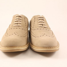 Candrani Liverpool Bej - Pantofi barbat Candrani, Piele naturala, Eleganti
