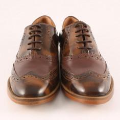 Candrani Oxford Maro - Pantofi barbat Candrani, Piele naturala