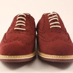 Candrani Liverpool Caramiziu Inchis - Pantofi barbat Candrani, Piele naturala, Eleganti