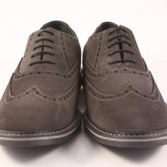 Candrani Liverpool Gri Inchis - Pantofi barbati Candrani, Piele naturala, Eleganti