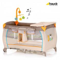 Pat Voiaj Babycenter - Bear - Patut pliant bebelusi Hauck, 120x60cm, Crem