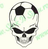 Football Skull_Tuning Auto_Cod: CST-525_Dim: 20 cm. x 13.2 cm.