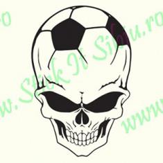 Football Skull_Tuning Auto_Cod: CST-525_Dim: 20 cm. x 13.2 cm. - Stickere tuning