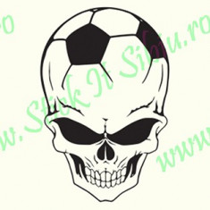 Football Skull_Tuning Auto_Cod: CST-525_Dim: 20 cm. x 13.2 cm. - Stickere tuning