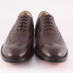 Candrani Oxford Peru Bordo - Pantofi barbat Candrani, Piele naturala
