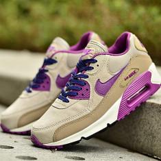 Nike Air Max 90 airmax dama/women Crem Violet - Adidasi dama Nike, Culoare: Din imagine, Marime: 36, 39, 40