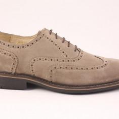 Candrani Liverpool Gri Oscuro - Pantofi barbat Candrani, Piele naturala, Eleganti